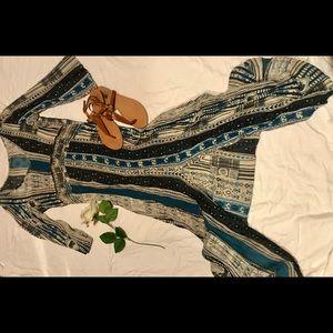 Long mid sleeve maxi dress